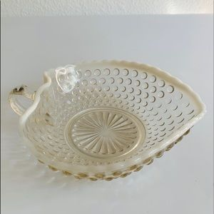 Fenton French Opalescent Hobnail Candy Dish